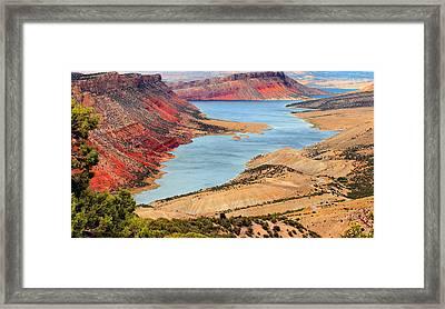 Flaming Gorge Framed Print