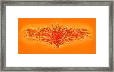 Flaming Heart Framed Print by David Kyte