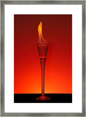 Flaming Hot Framed Print