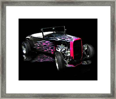 Flaming Hot Roadster  Framed Print by Peter Piatt