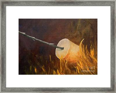 Flaming Framed Print by Joi Electa