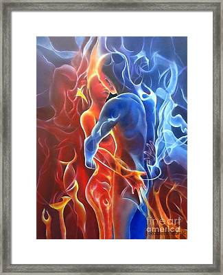 Flaming Lovers Framed Print