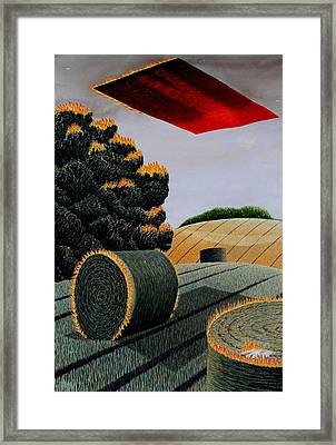 Flaming Magic Carpet Landscape Ride Framed Print by Adrian Jones