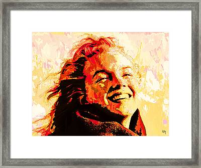 Flaming Marilyn Framed Print by Lawrence O'Toole