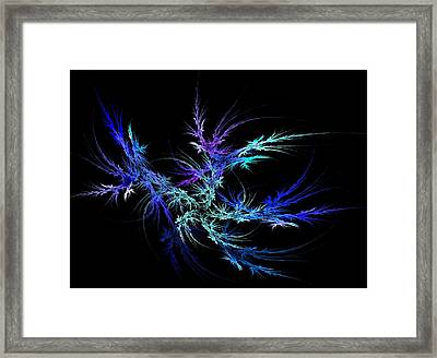 Flaming Plant Framed Print