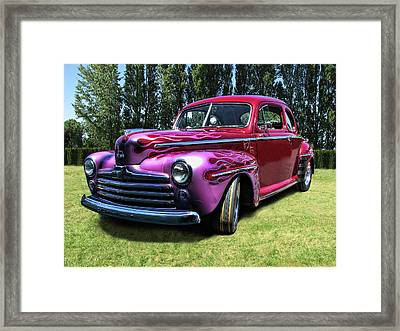 Flaming Rose Hot Rod Framed Print