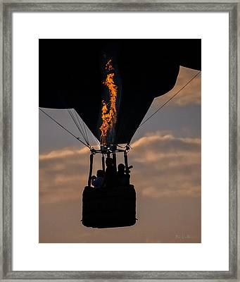 Flaming Silhouette  Framed Print by Bob Orsillo