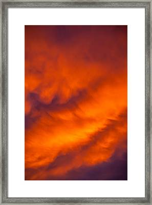 Flaming Skies Framed Print by Az Jackson