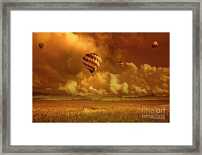 Framed Print featuring the photograph Flaming Sky by Charuhas Images