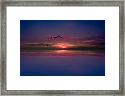 Flaming Sky  Framed Print