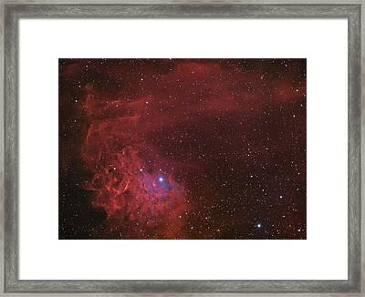 Flaming Star Nebula In The Constellation Auriga Framed Print