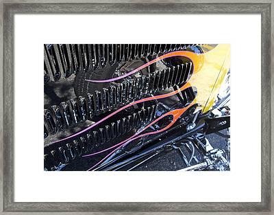 Flaming Street Rod Framed Print