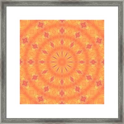 Framed Print featuring the digital art Flaming Sun by Elizabeth Lock