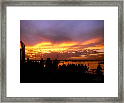 Flaming Sunset Framed Print