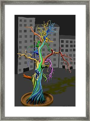 Flaming Tree Framed Print