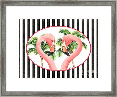 Flamingo Amore 5 Framed Print by Debbie DeWitt