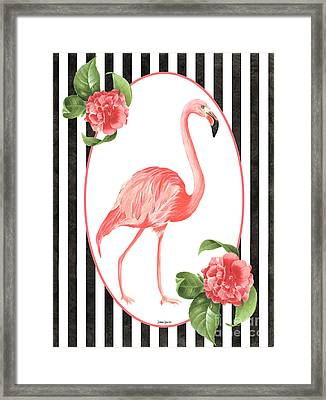 Flamingo Amore 6 Framed Print by Debbie DeWitt