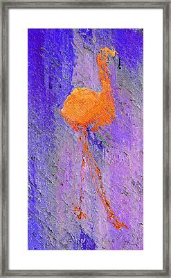 Flamingo Blurred Framed Print by Ken Figurski