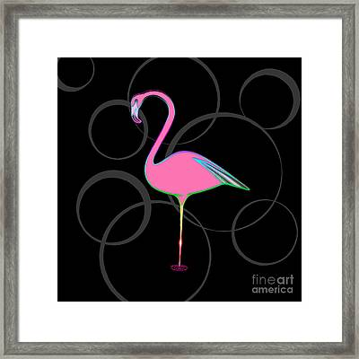 Flamingo Bubbles No 1 Framed Print