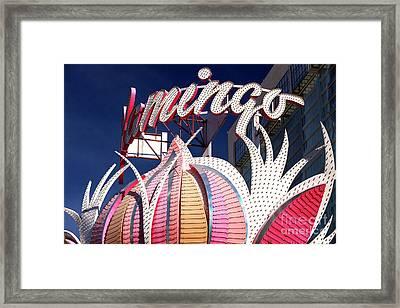 Flamingo Colors Las Vegas Framed Print by John Rizzuto