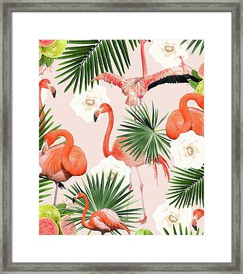 Flamingo Guava Framed Print