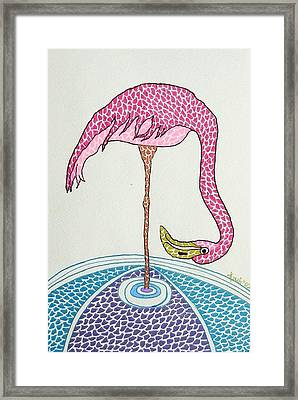 Flamingo I Framed Print by Kruti Shah