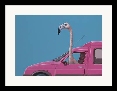 Car Window Framed Prints