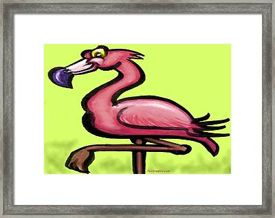 Framed Print featuring the painting Flamingo by Kevin Middleton