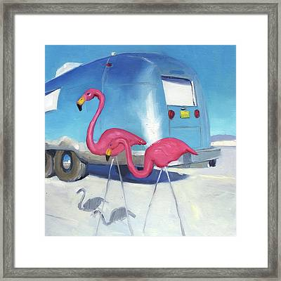 Flamingo Migration Framed Print