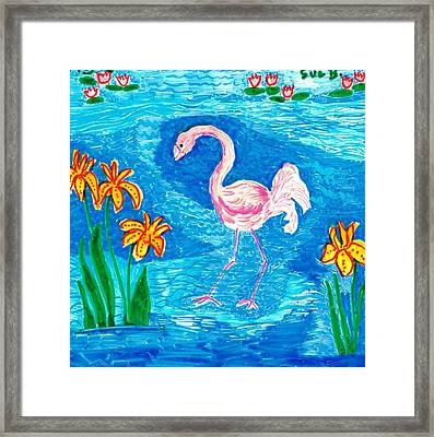 Flamingo Framed Print by Sushila Burgess
