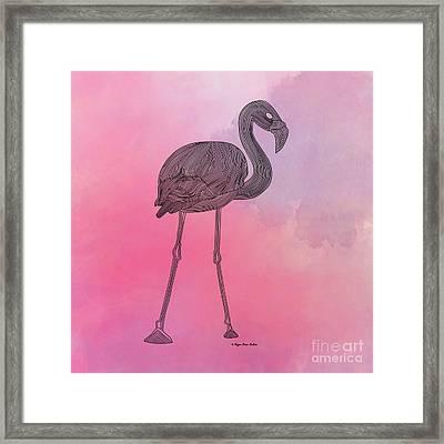 Flamingo5 Framed Print by Megan Dirsa-DuBois