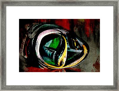 Framed Print featuring the digital art Flammable Material by Jean Moore