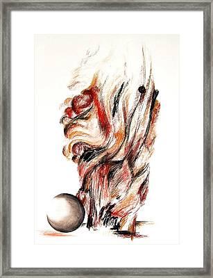 Flamme En Bois Framed Print by Muriel Dolemieux