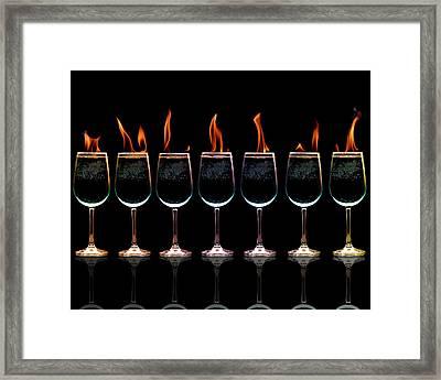Flamming Glasses Framed Print by Brian Guiler