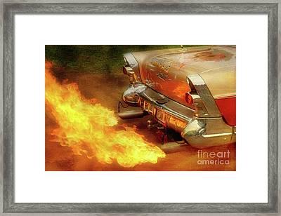 Flam'n Framed Print by Joel Witmeyer