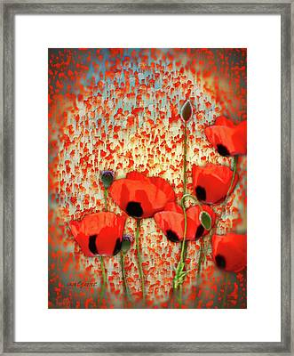 Framed Print featuring the painting Flanders Fields by Valerie Anne Kelly