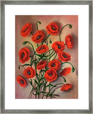Flander Poppies Framed Print