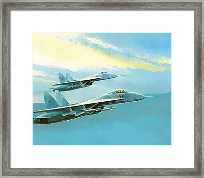 Flankers In Formation Framed Print by Mountain Dreams
