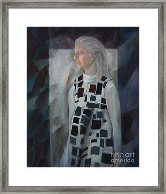 Flannel Dress Framed Print by Jukka Nopsanen