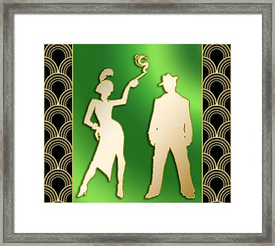 Framed Print featuring the digital art Flapper And The Gangster by Chuck Staley