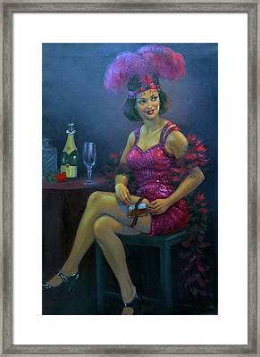 Flapper At The Speakeasy Framed Print