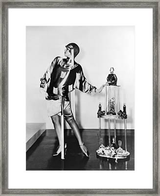 Flapper Fashion Film Still Framed Print by Underwood Archives