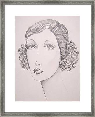 Flapper Girl Framed Print