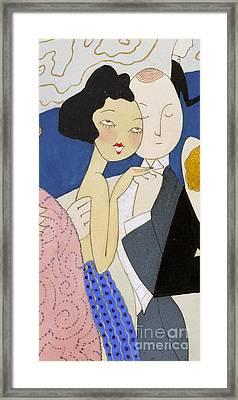 Flapper Roaring 20s Couple Dancing Phone Case Framed Print by Edward Fielding