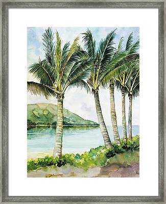Flapping Palm Trees Framed Print