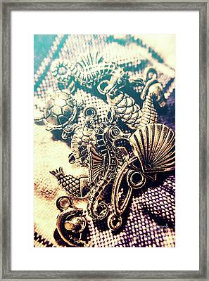Flares Of Nautical Beauty Framed Print