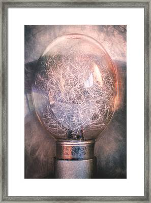 Flash Bulb Framed Print