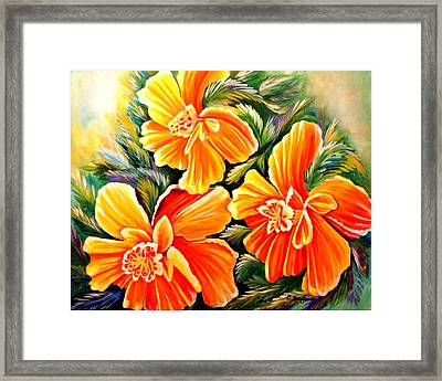 Flash Dance Framed Print