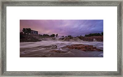 Flash Flood Framed Print by Aaron J Groen