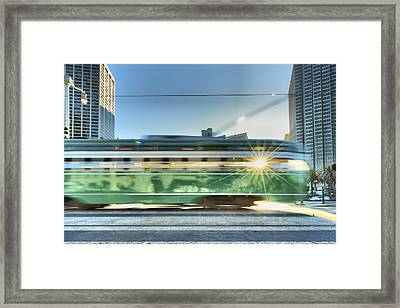 Flash Muni Framed Print